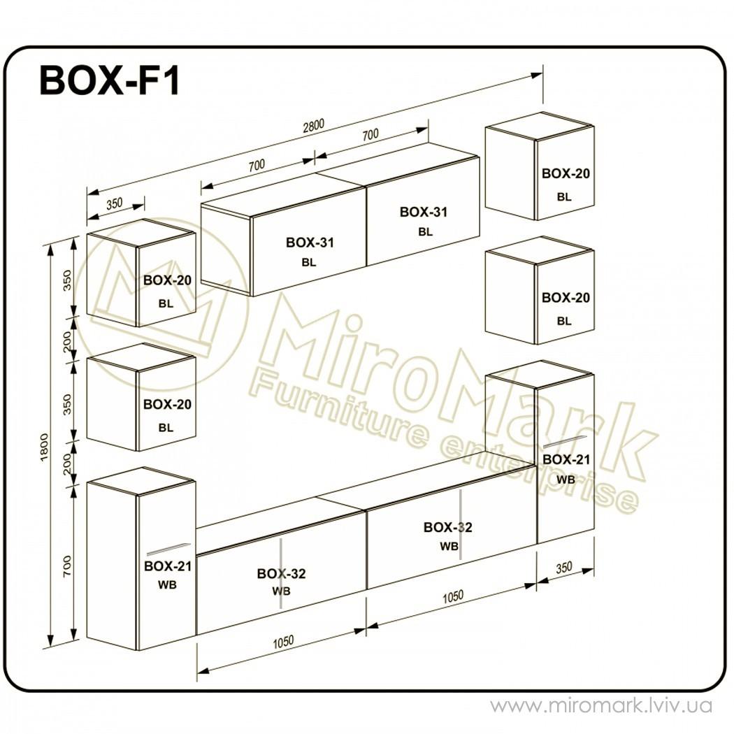 Гостиная Box вариант F-1