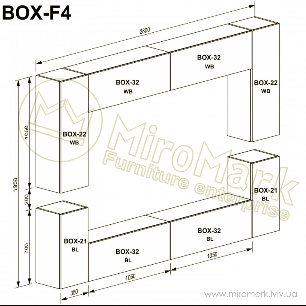 Гостиная Box вариант F-4
