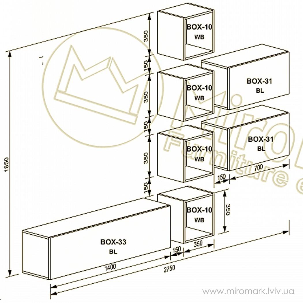 Гостиная Box вариант V-2-1