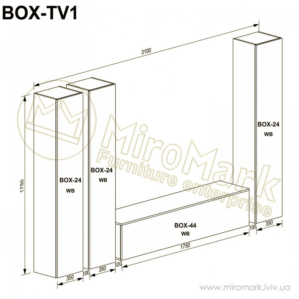 Гостиная Box вариант TV-1
