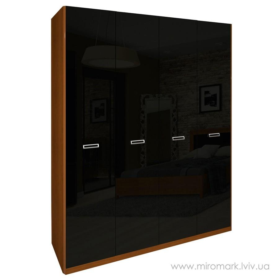 Шкаф 4дв (183см) БЗ Белла черная