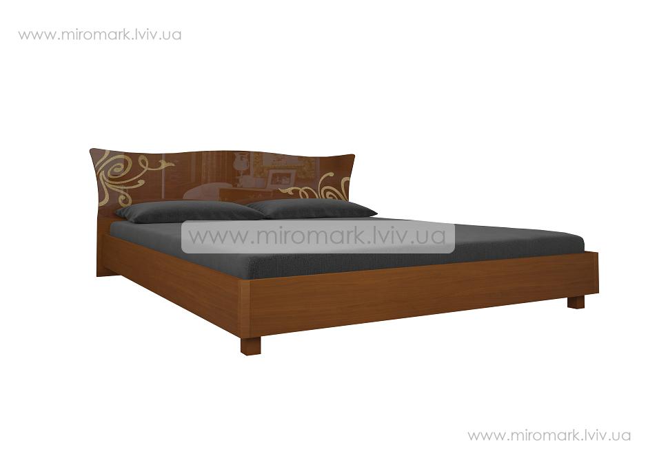 Богема кровать 160 подъемная с каркасом вишня бюзум