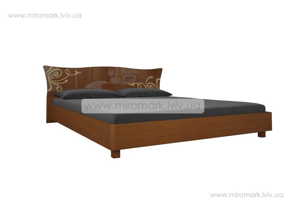 Богема кровать 180 с каркасом вишня бюзум