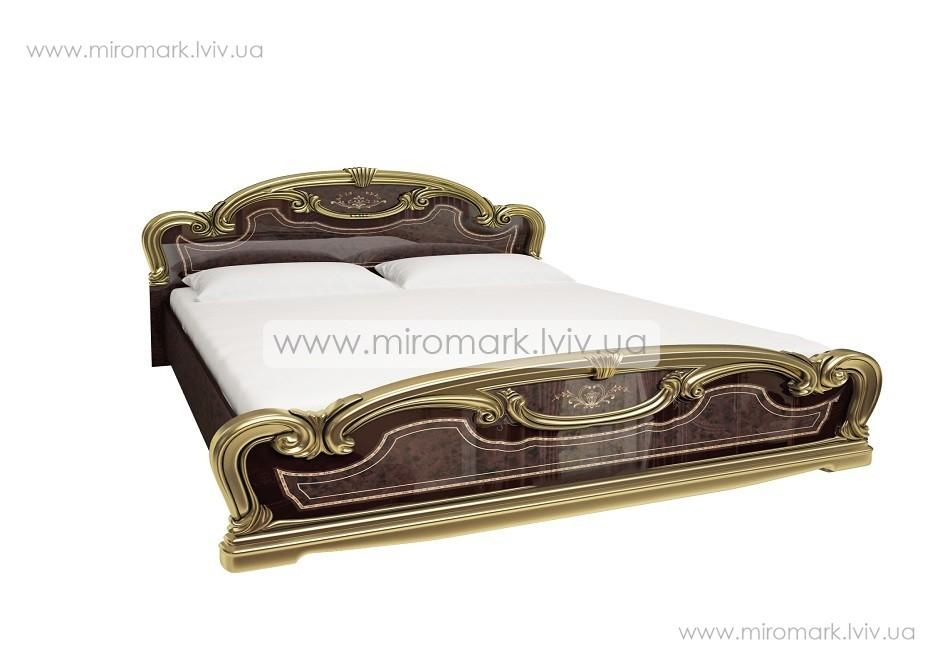 Мартина Голд кровать 160 с каркасом радика махонь