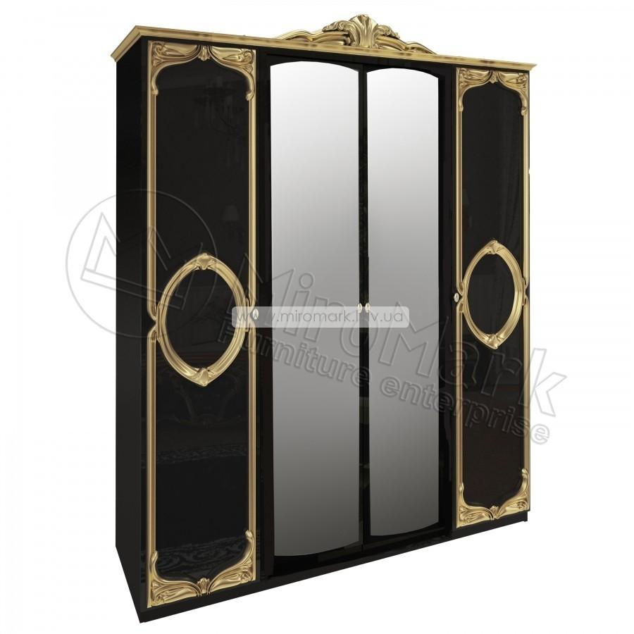 Шкаф 4дв (192см) Реджина черная