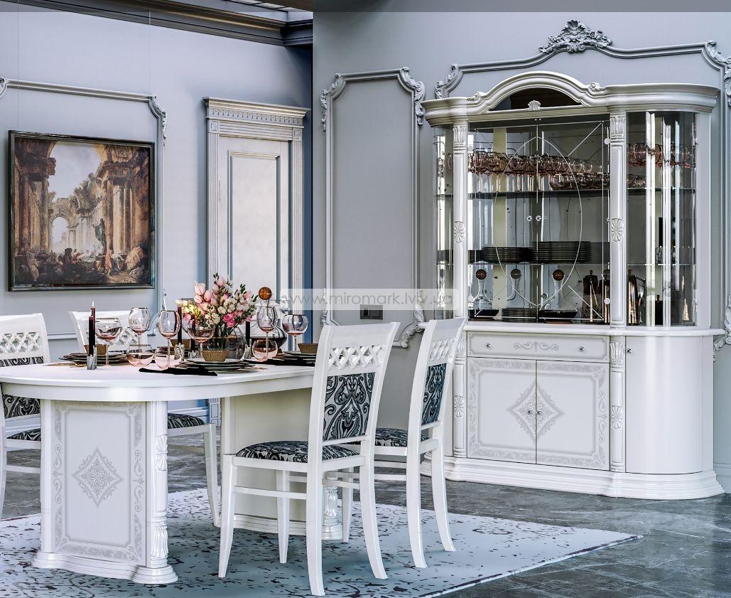 Чикаго стол столовый Белый