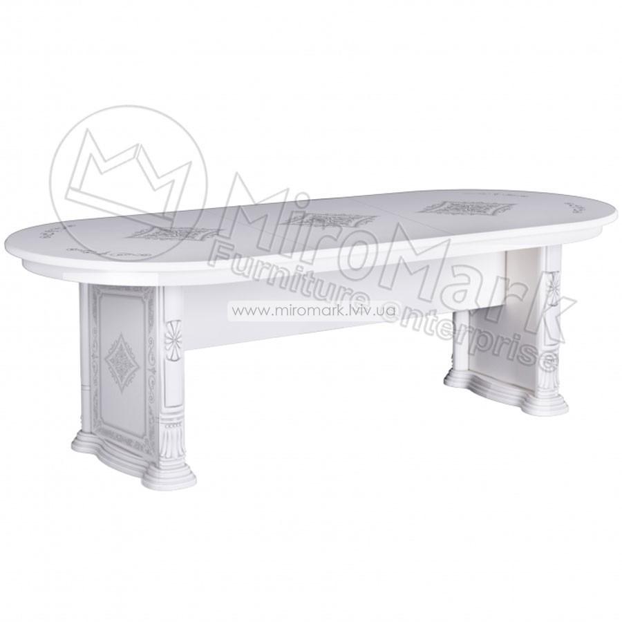 Чикаго стол столовый раздвижной Белый