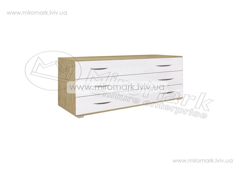 Миллениум комод 3ш белый глянец-Сан-Марино