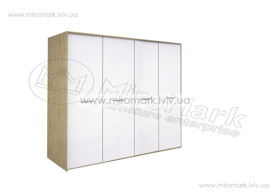 Миллениум шкаф 4дв без зеркал с подсветкой белый глянец-Сан-Марино