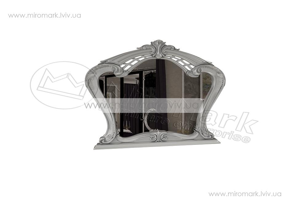 Реджина зеркало глянец черный-серебро