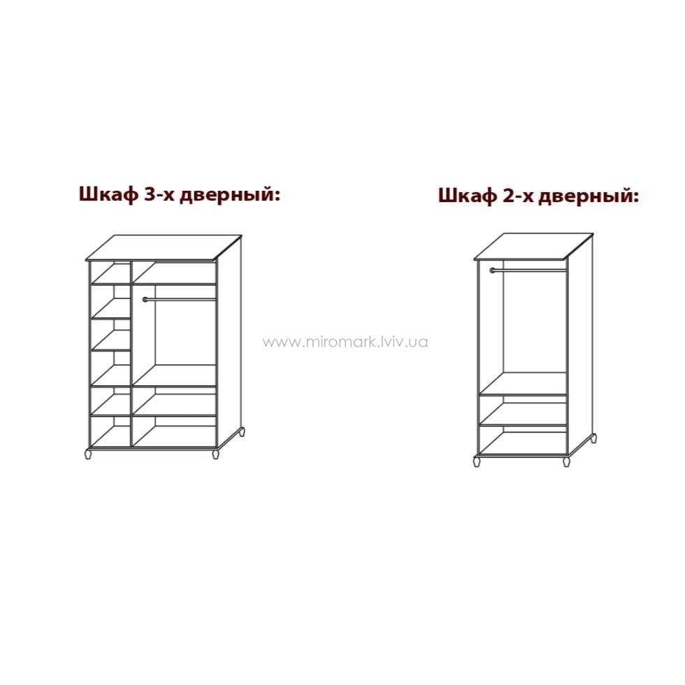 Шкаф 3-х дверный Терра Нова