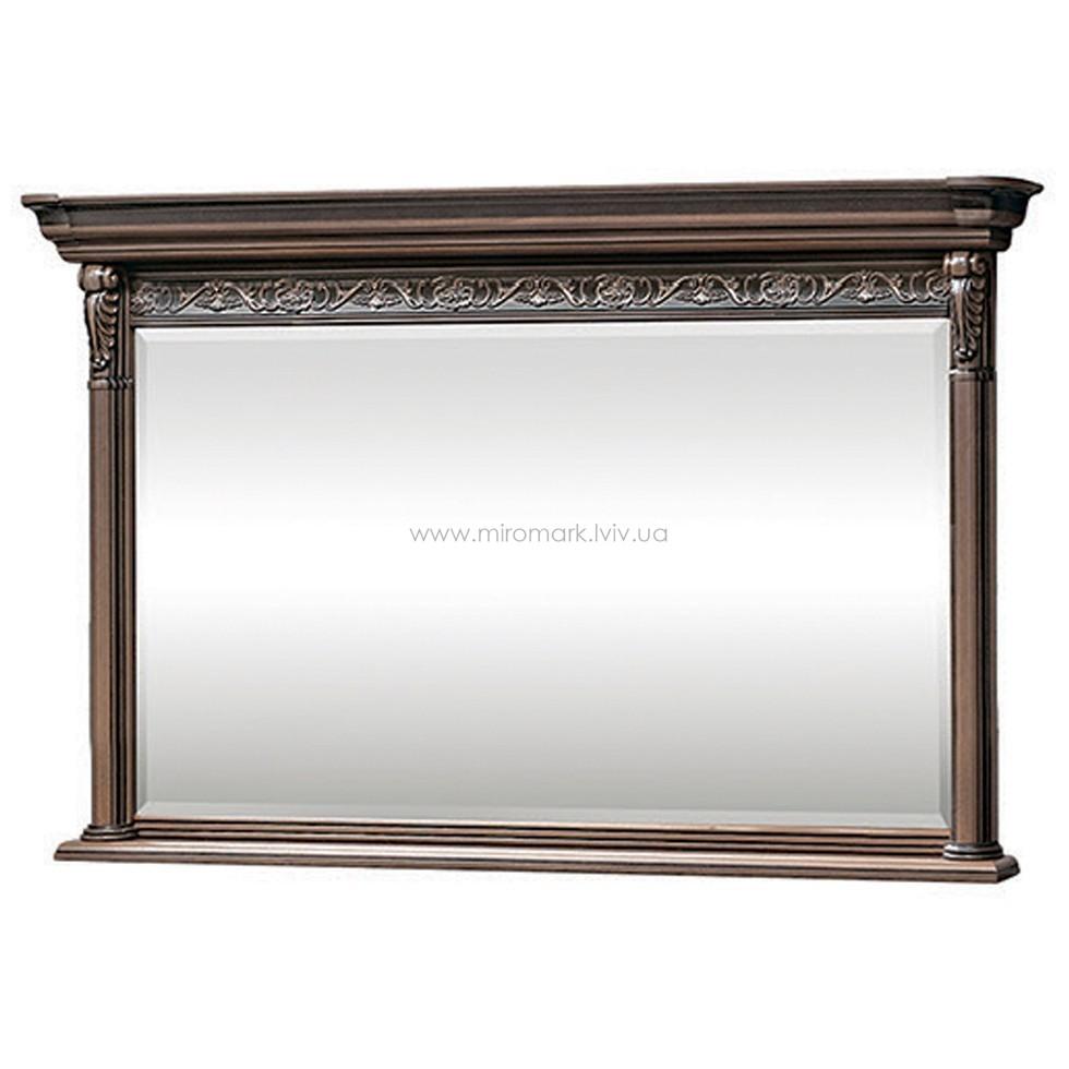 Тоскана Нова зеркало в раме с карнизом 0,9
