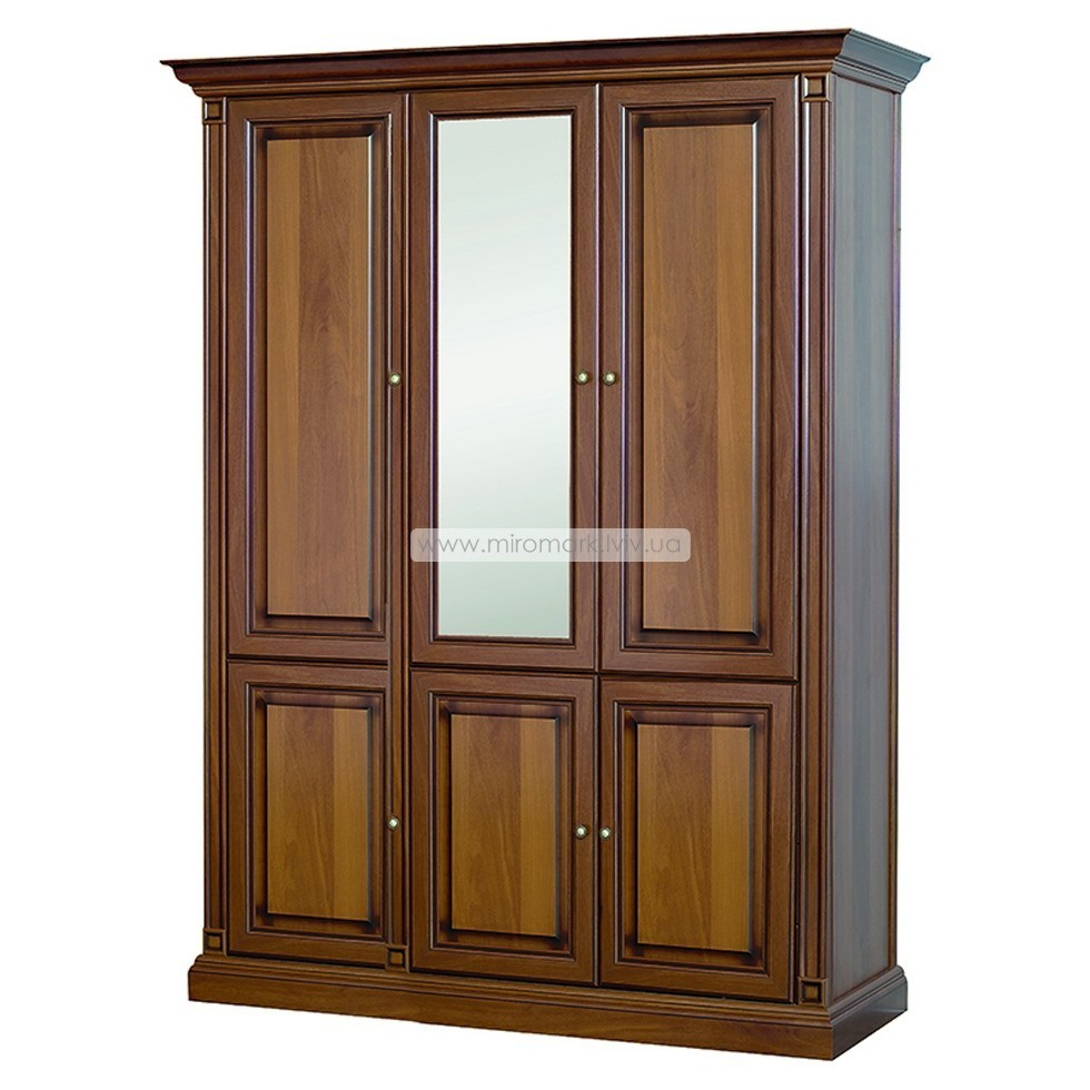 Шкаф 3-х дверный 1,47 ЗЕРКАЛО Набукко