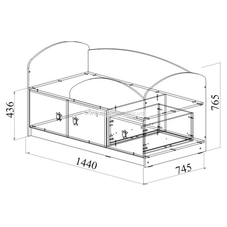 Кровать МДМ-1 «Маугли» оранж