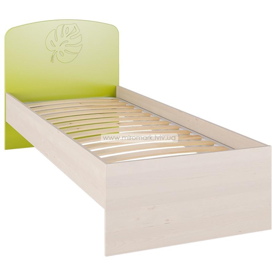 Кровать без ламелей МДМ-11 «Маугли» лайм