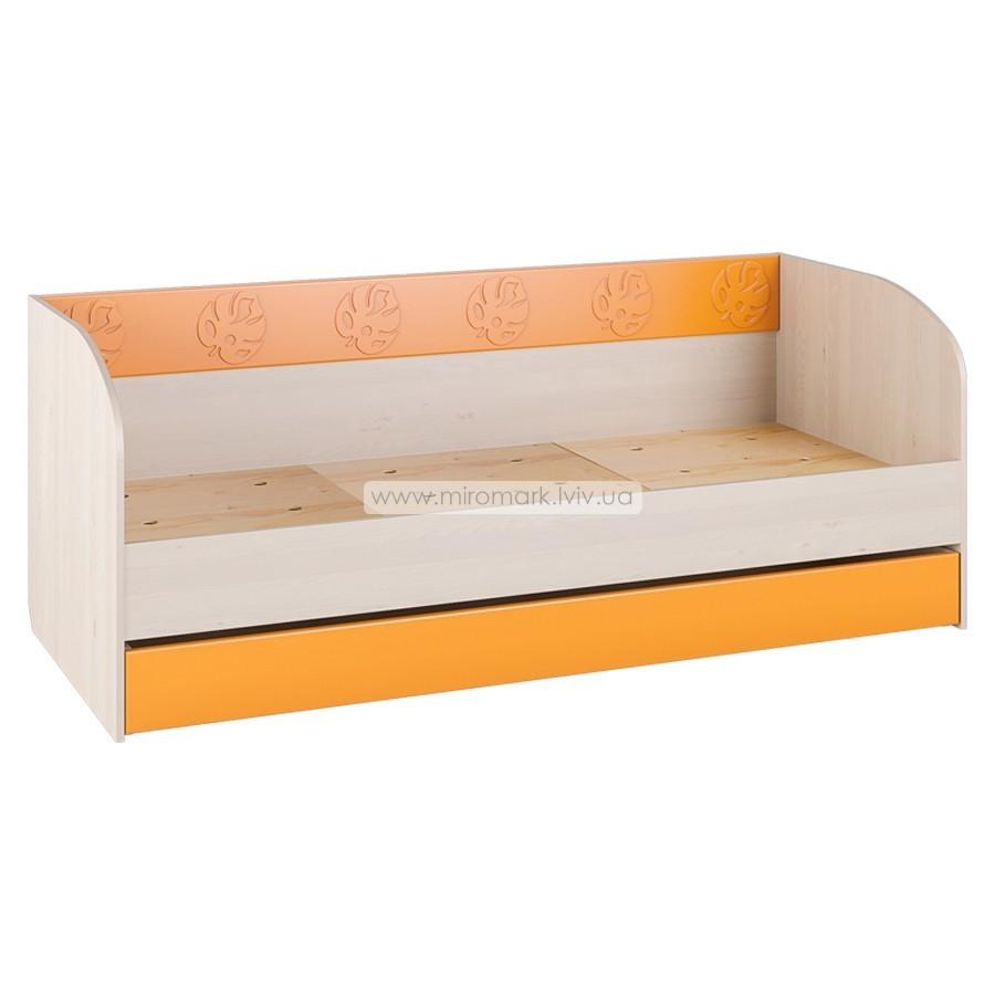Кровать с ящиками МДМ-12 «Маугли» оранж