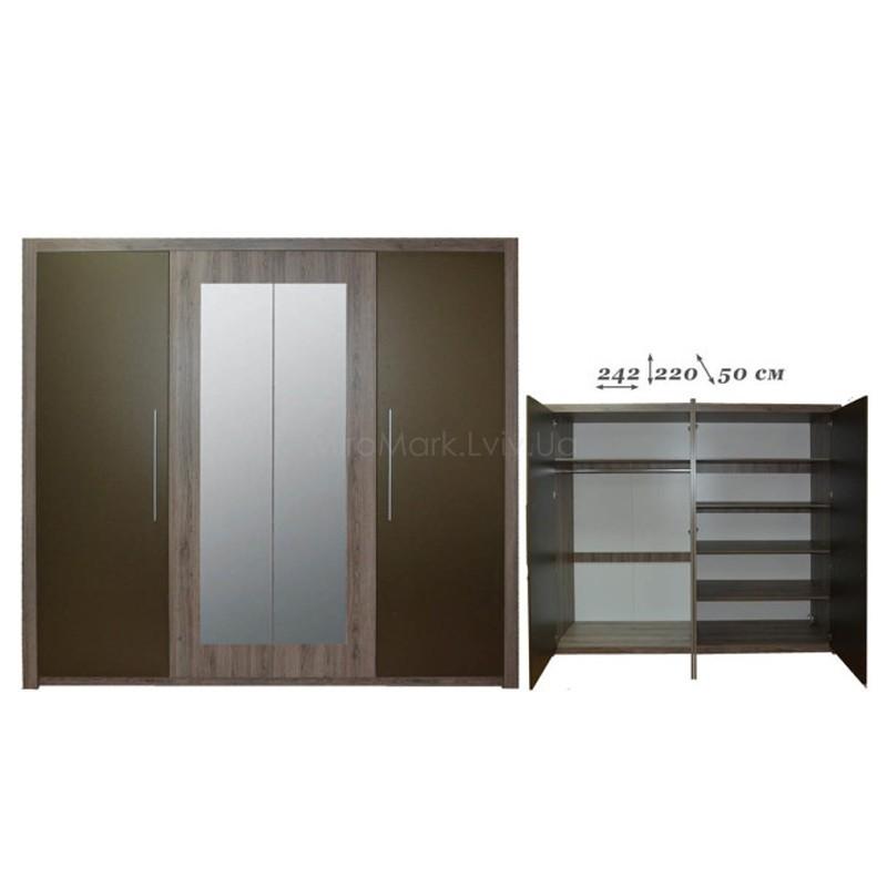 Шкаф 4 дв с 2 зеркалами Джульетта