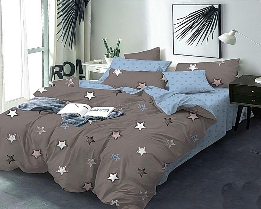 Комплект постельного белья ТМ TAG сатин-люкс с компаньоном S378