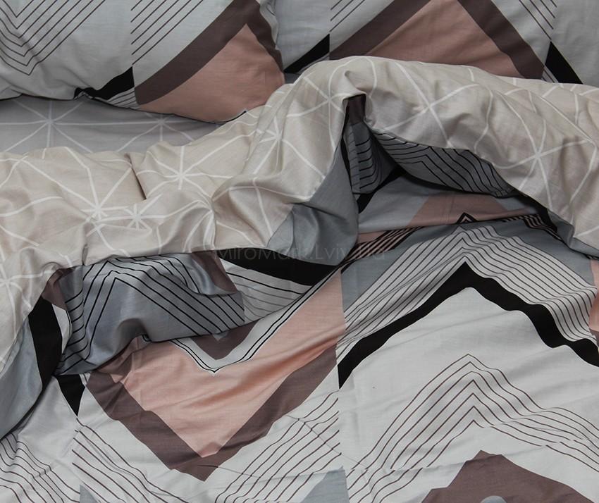 Комплект постельного белья ТМ TAG сатин-люкс с компаньоном S370
