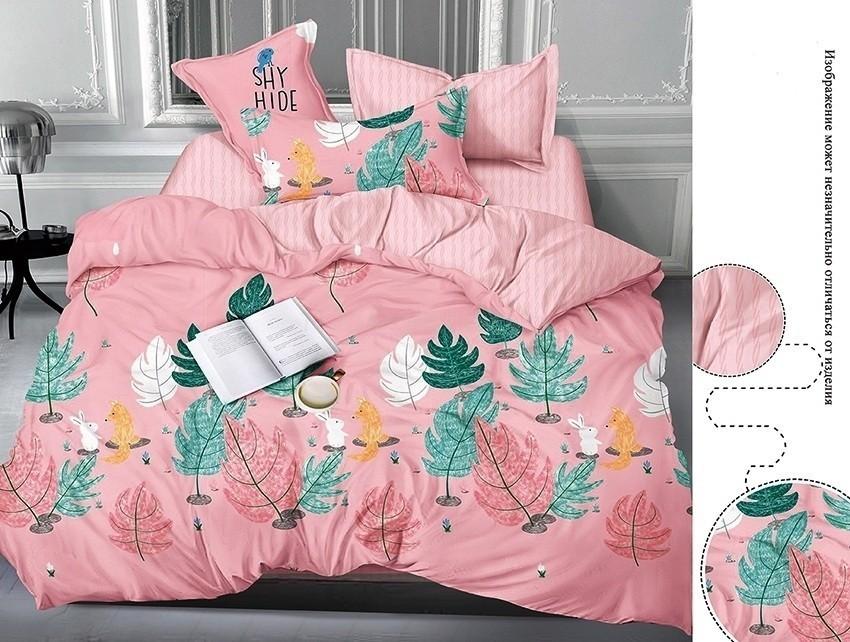 Комплект постельного белья ТМ TAG сатин-люкс с компаньоном S365