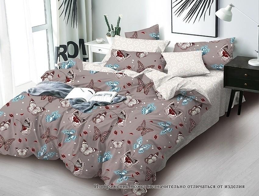 Комплект постельного белья ТМ TAG сатин-люкс с компаньоном S360