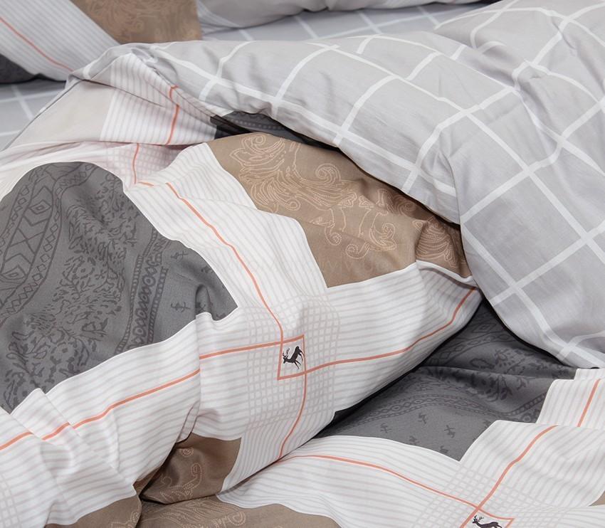Комплект постельного белья ТМ TAG сатин-люкс с компаньоном S353