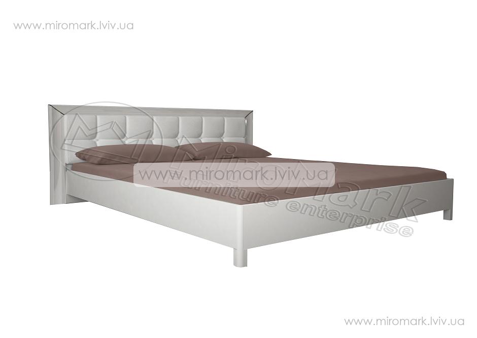 Флора кровать 160 профиль и мягкая спинка с каркасом белый глянец