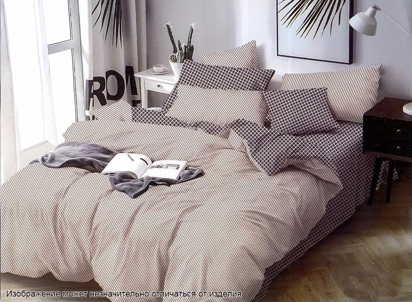 Комплект постельного белья ТМ TAG сатин-люкс с компаньоном S344