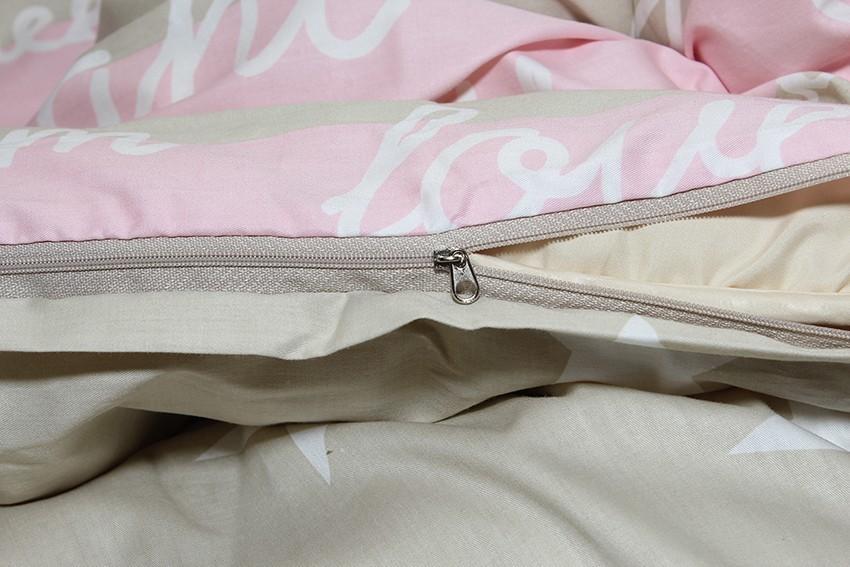 Комплект постельного белья ТМ TAG сатин-люкс с компаньоном S343