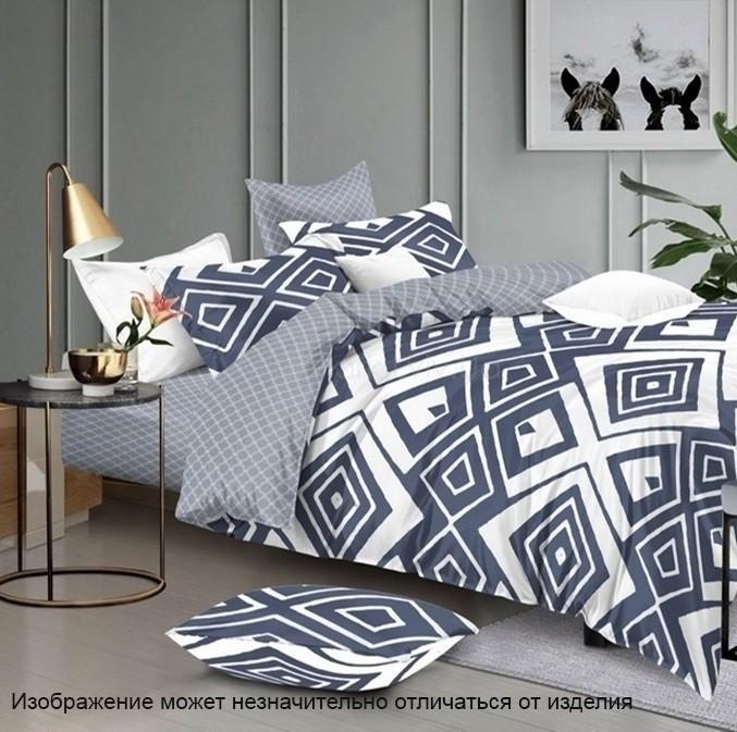Комплект постельного белья ТМ TAG сатин-люкс с компаньоном S336