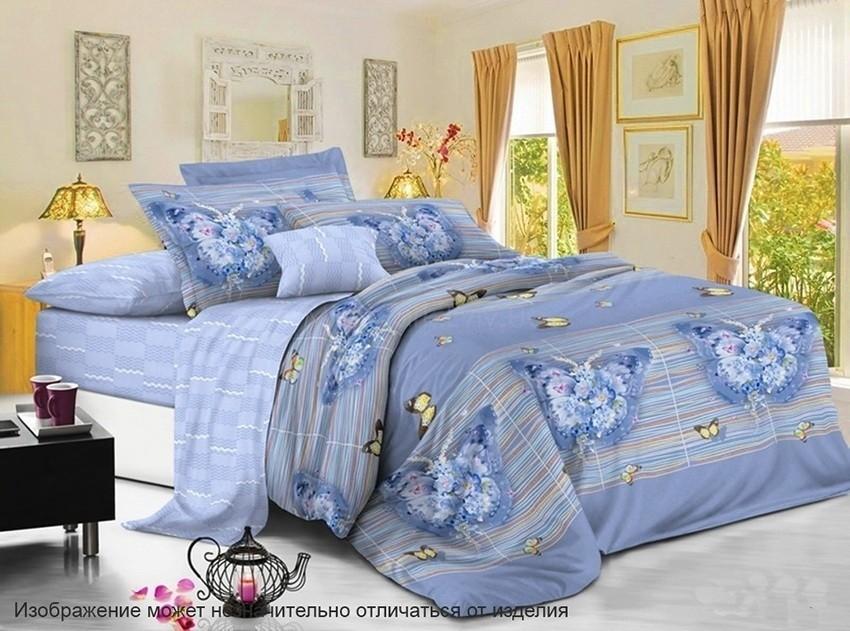 Комплект постельного белья ТМ TAG сатин-люкс с компаньоном S334