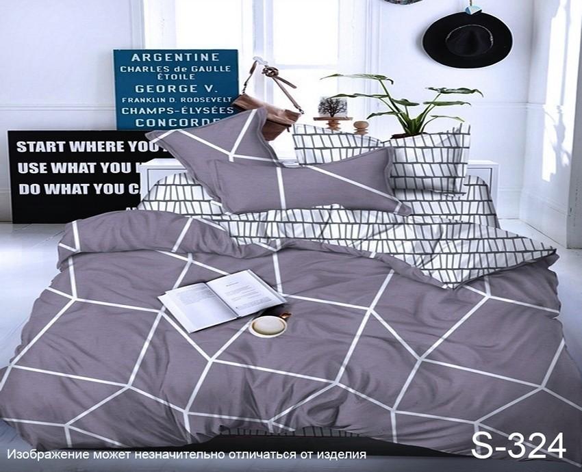 Комплект постельного белья ТМ TAG сатин-люкс с компаньоном S324