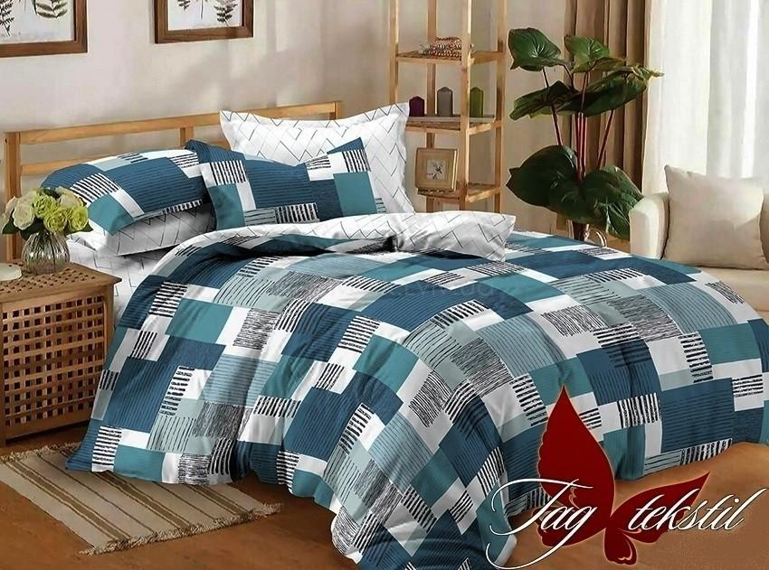 Комплект постельного белья ТМ TAG сатин-люкс с компаньоном S306