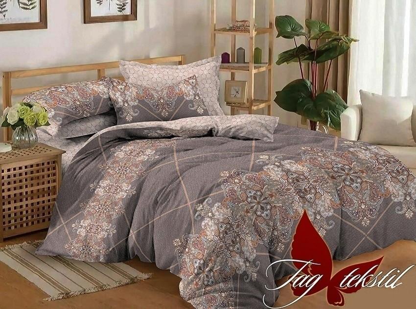 Комплект постельного белья ТМ TAG сатин-люкс с компаньоном S299