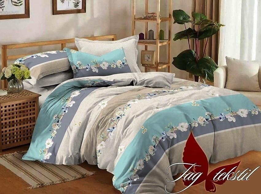 Комплект постельного белья ТМ TAG сатин-люкс с компаньоном S297