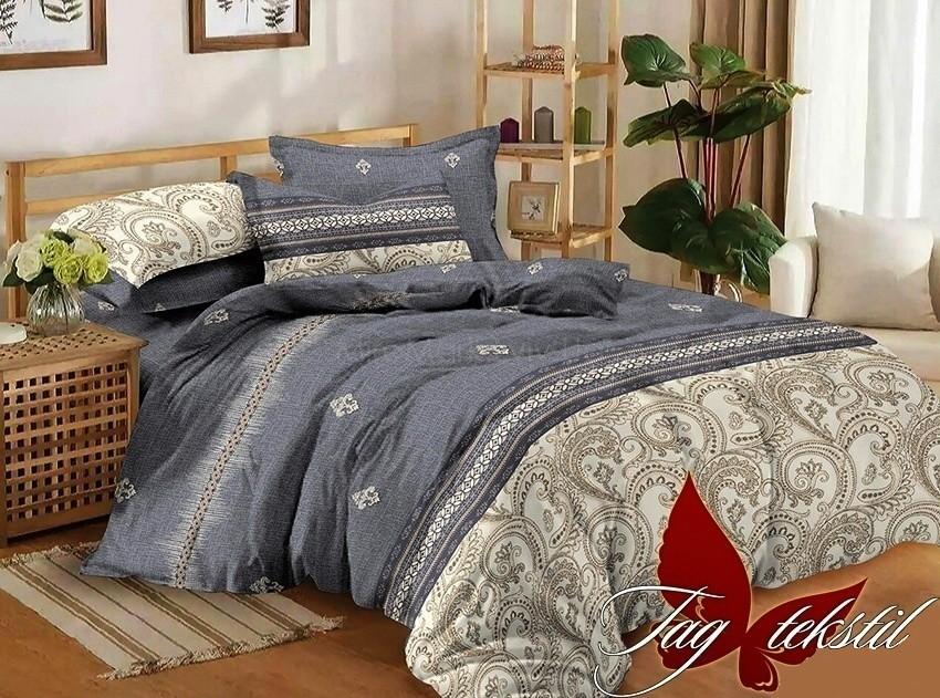 Комплект постельного белья ТМ TAG сатин-люкс с компаньоном S293