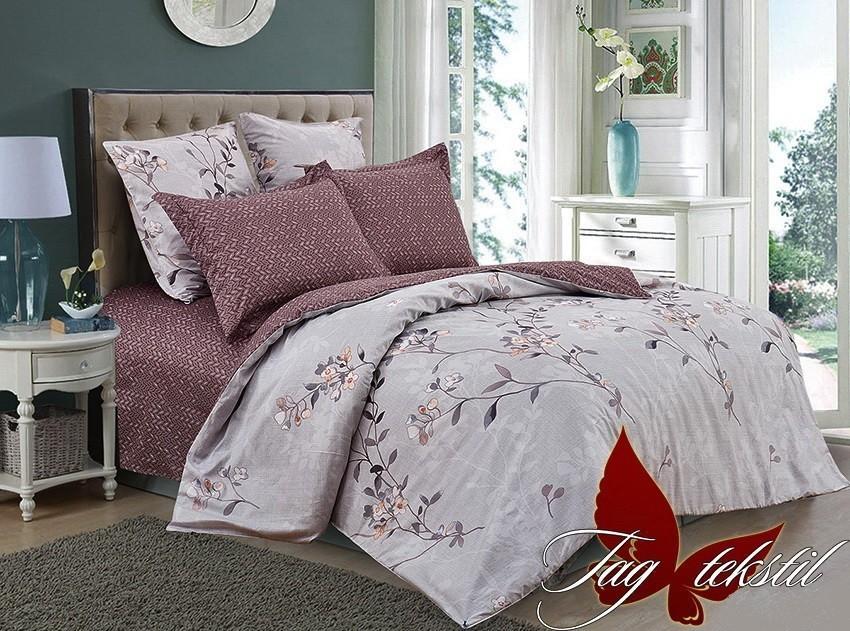 Комплект постельного белья ТМ TAG сатин-люкс с компаньоном S287