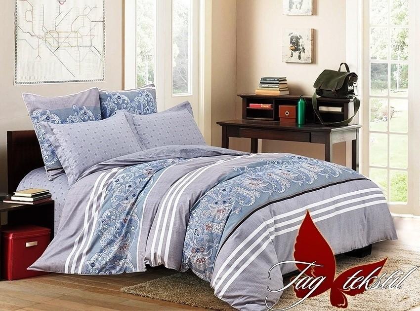 Комплект постельного белья ТМ TAG сатин-люкс с компаньоном S285