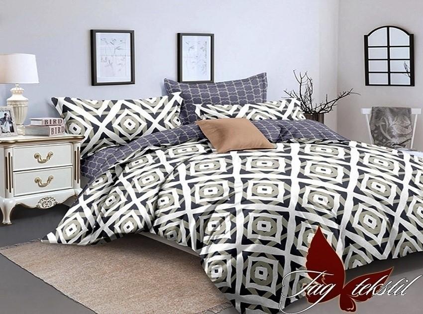 Комплект постельного белья ТМ TAG сатин-люкс с компаньоном S256