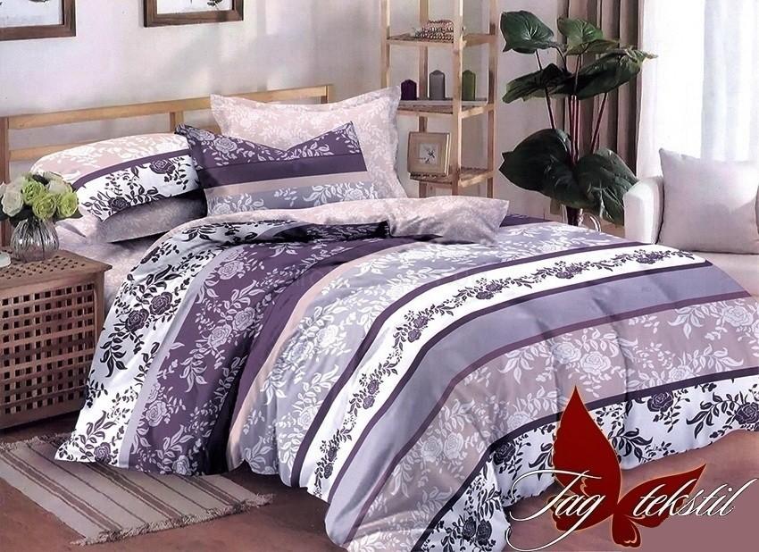 Комплект постельного белья ТМ TAG сатин-люкс с компаньоном S247