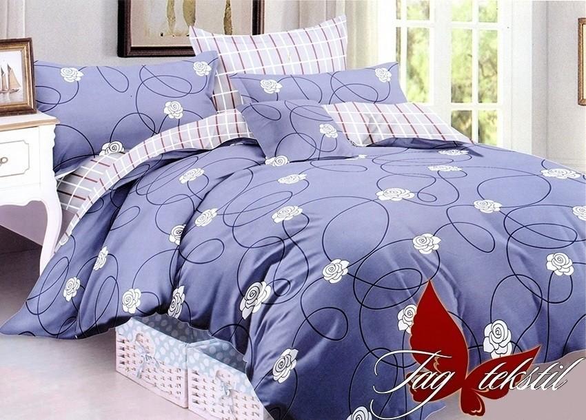 Комплект постельного белья ТМ TAG сатин-люкс с компаньоном S241