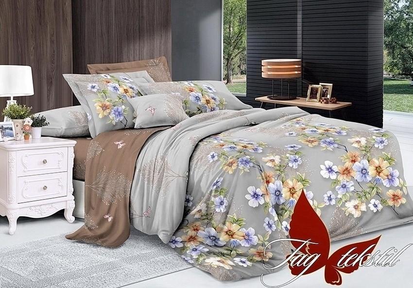 Комплект постельного белья ТМ TAG сатин-люкс с компаньоном S235