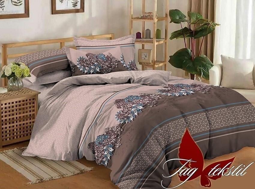 Комплект постельного белья ТМ TAG сатин-люкс с компаньоном S223