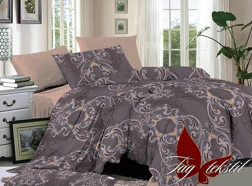 Комплект постельного белья ТМ TAG сатин-люкс с компаньоном S209
