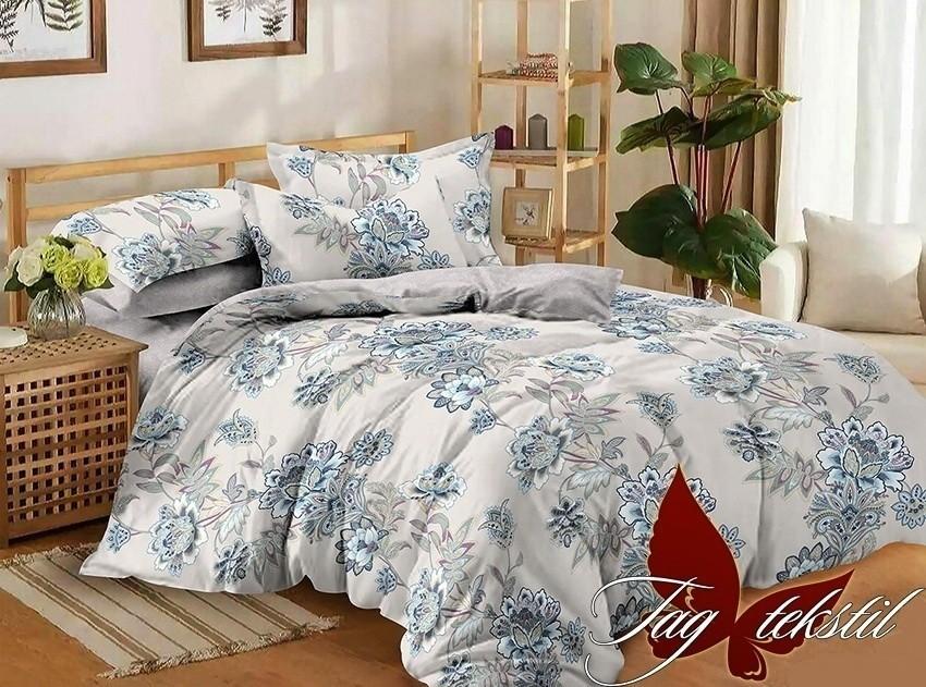 Комплект постельного белья ТМ TAG сатин-люкс с компаньоном S198