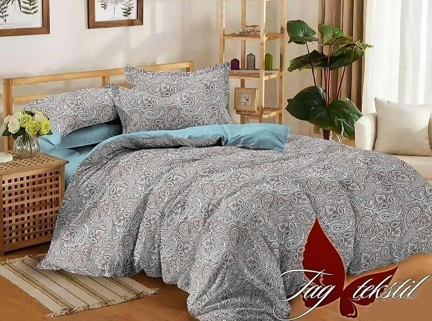 Комплект постельного белья ТМ TAG сатин-люкс с компаньоном S193