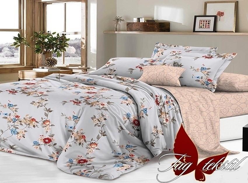Комплект постельного белья ТМ TAG сатин-люкс с компаньоном S192
