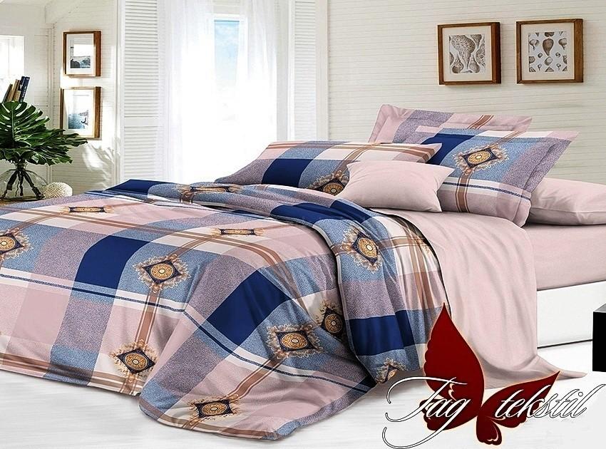 Комплект постельного белья ТМ TAG сатин-люкс с компаньоном S190