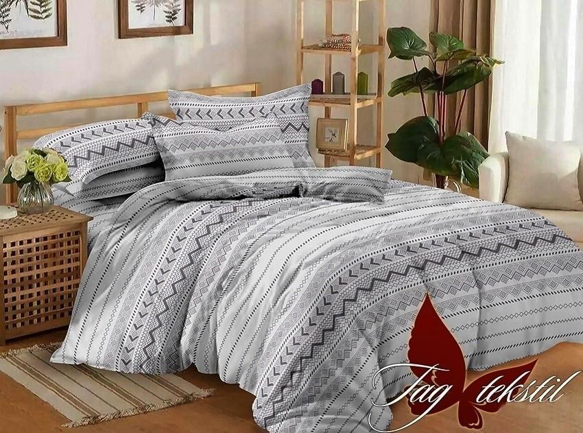 Комплект постельного белья ТМ TAG сатин-люкс с компаньоном S172