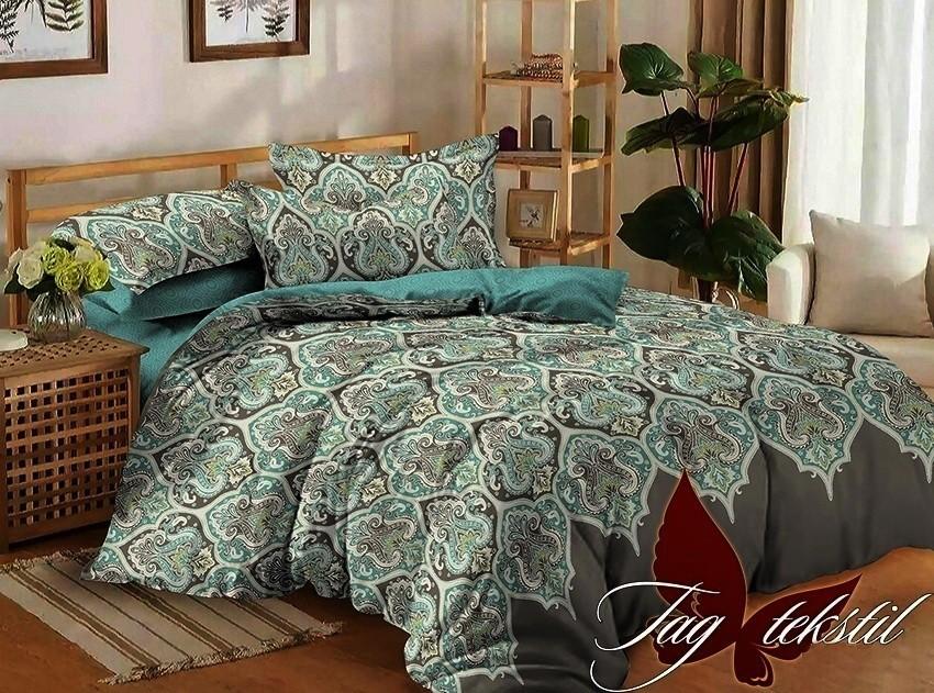 Комплект постельного белья ТМ TAG сатин-люкс с компаньоном S171